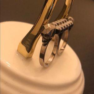 Joomi Lim Jewelry | Skull & Alabaster Double Ring
